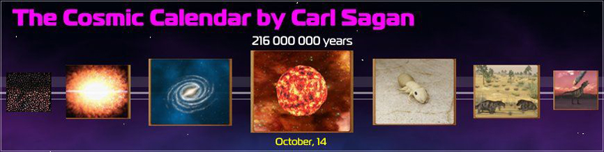 The Cosmic Calendar by Carl Sagan